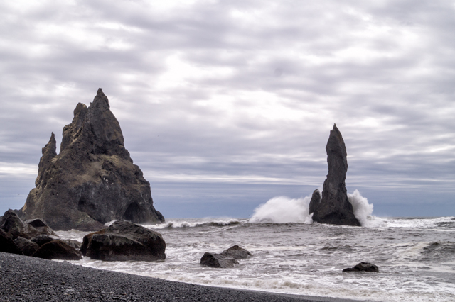 As close as you can get to Reynisdrangar without getting in the water (which is strongly discouraged)
