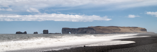 Dyrhólaey seen from Reynisfjara
