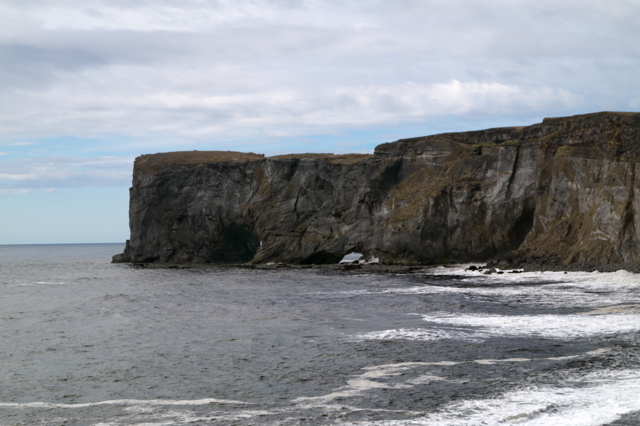 A closer view of Dyrhólaey