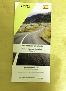 Hertz brochure in Spanish