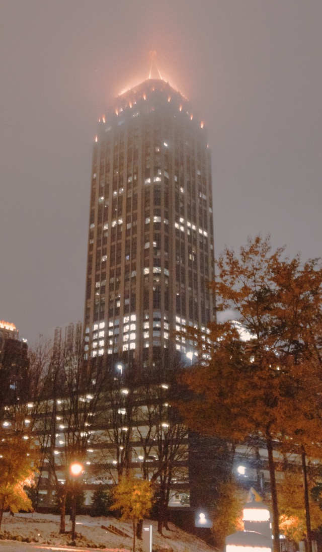 Snowy Night at One Atlantic Center