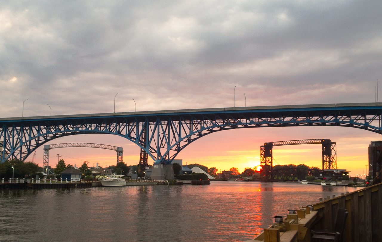 Sunset on the Cuyahoga River